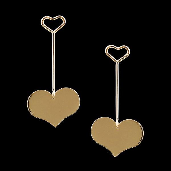 Brinco folheado à ouro 18k Coração de Aço