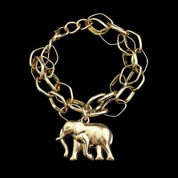 Pulseira folheada à Ouro 18k Elephant