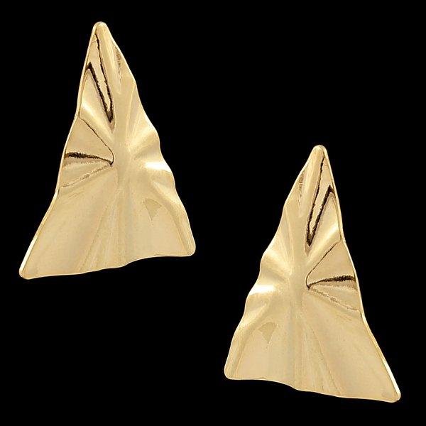 Brinco folheado à Ouro 18k Triangulo