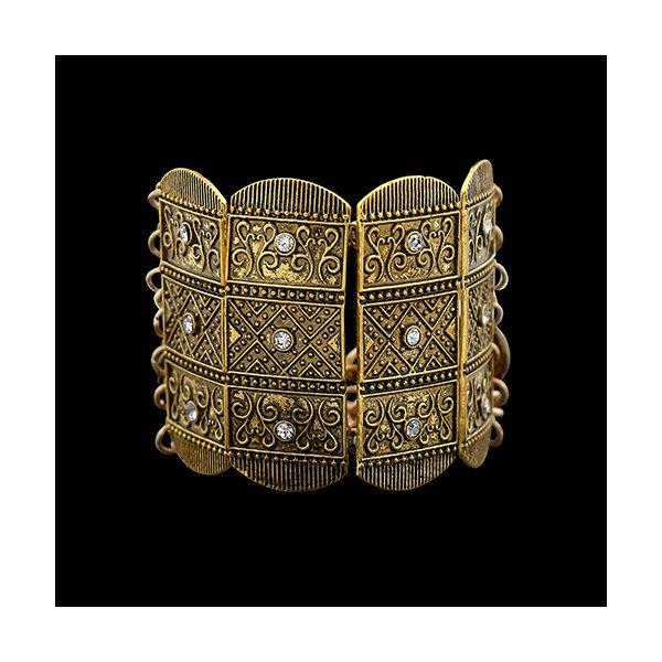 Pulseira Bracelete em Banho Ouro Velho
