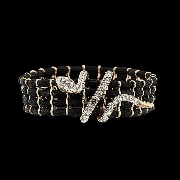 Pulseira Bracelete couro Cobra