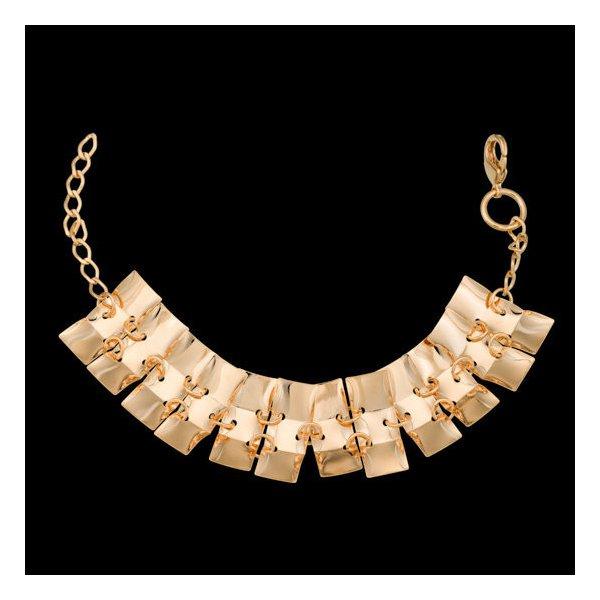 Pulseira bracelete folheada à ouro 18k romana