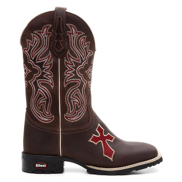 Bota Texana Danish Red com cruz na gáspea
