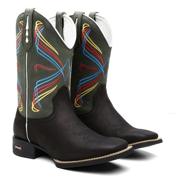 Bota Texana Cardeal – Bordados coloridos
