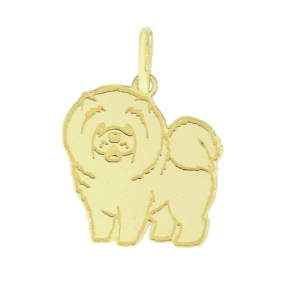 Pingente Cachorro Chow-Chow em Ouro 18K