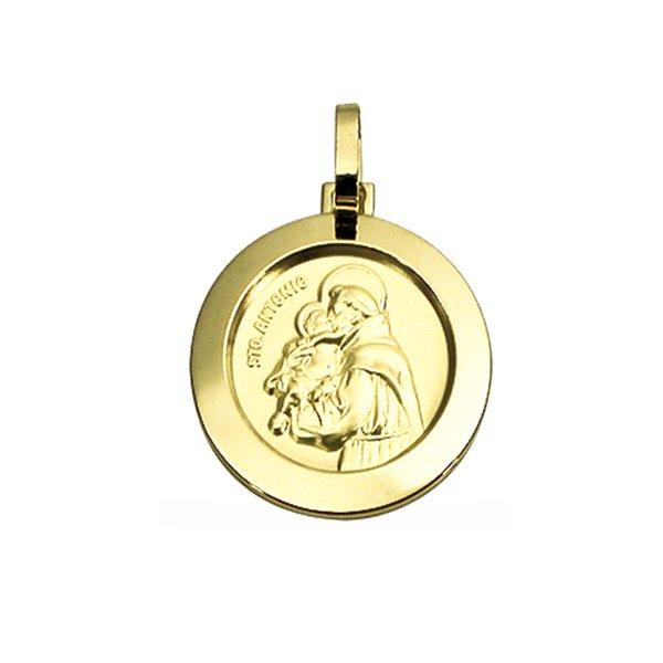 Pingente Medalha Santo Antonio em Ouro 18K