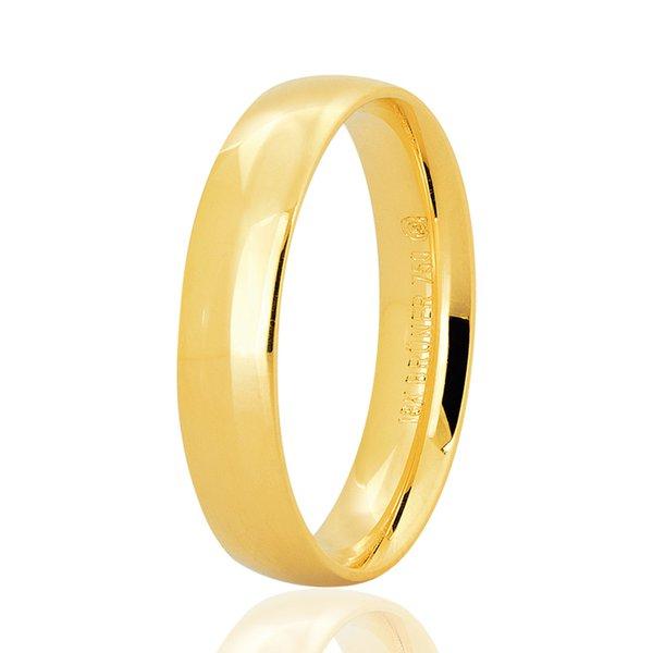 Aliança Bruner Unitária Tradicional de Ouro 18K
