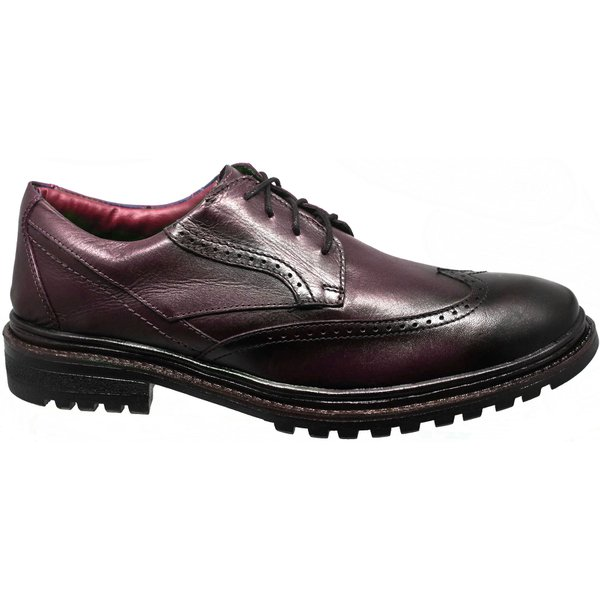 Oxford Masculino Couro Confort Bordo Amsrterda 600