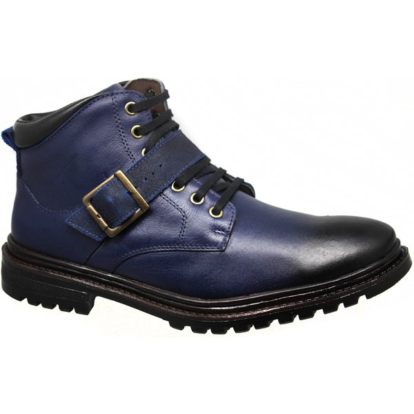 Coturno Masculino 622 confort stone azul azul amsterdã