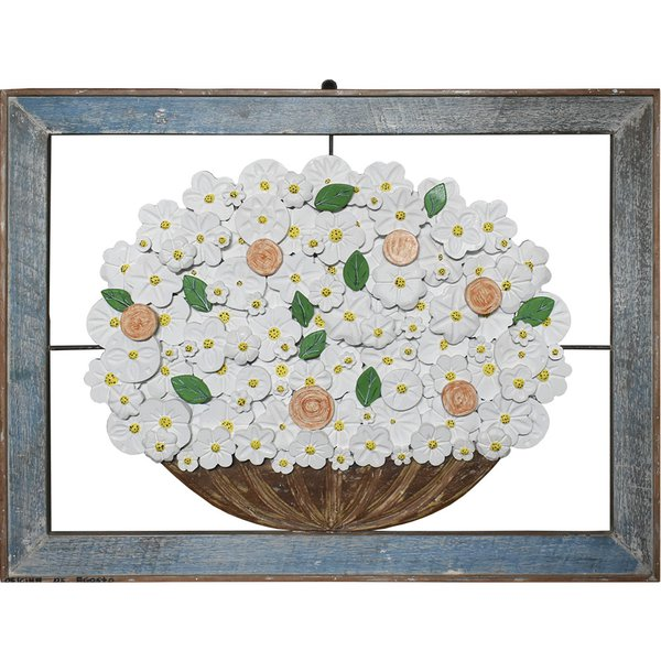 Quadro Vazado de Ânfora de Flores