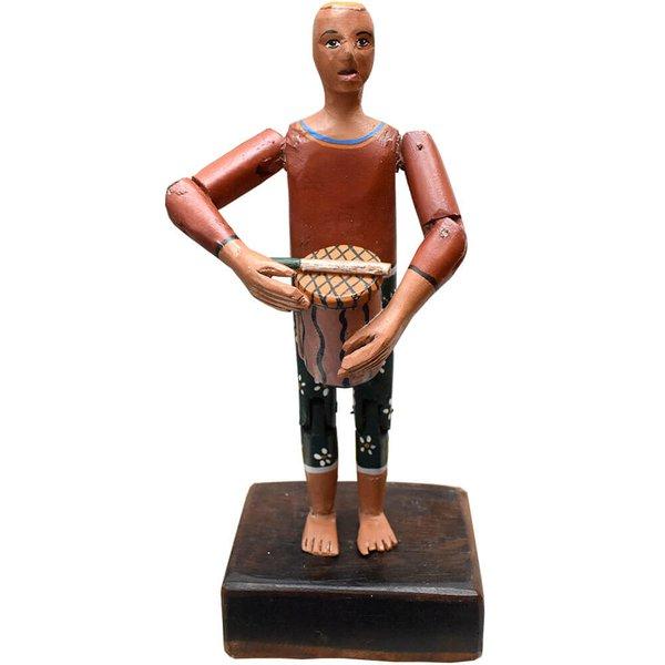 Escultura Boneco com Conga - Coleção 'Bonecos Instrumentistas'