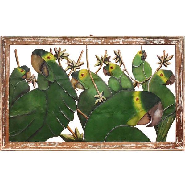 Quadro Vazado Grande de Papagaios