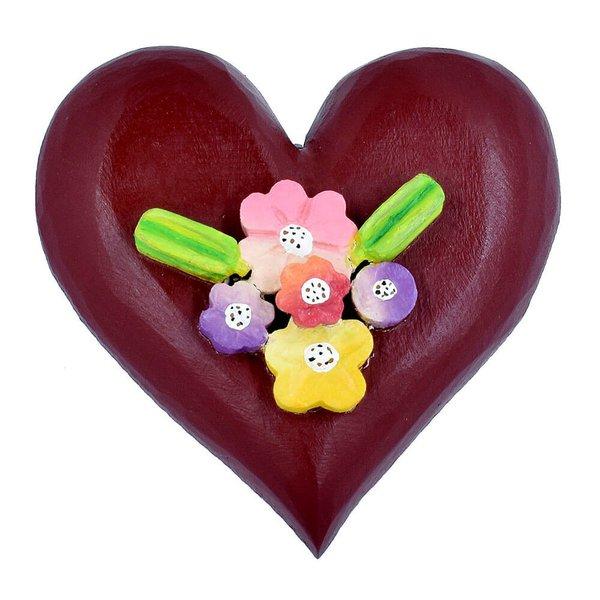 Escultura de Coração com Flores