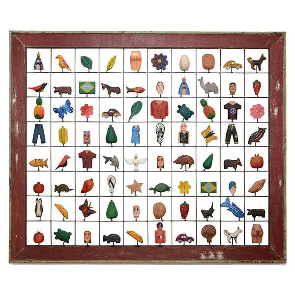 Painel Grade de Lembranças 80 pçs. com Moldura