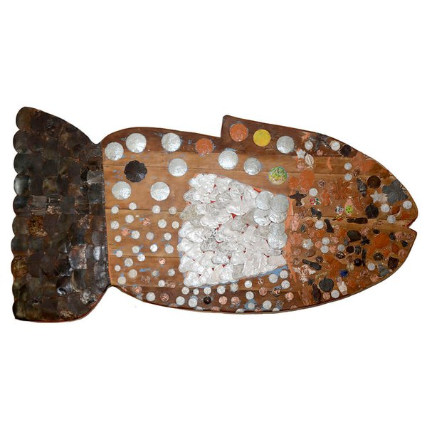 Painel Talha de Peixe com Apliques
