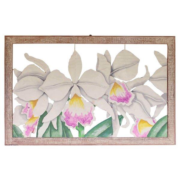 Quadro Vazado Grande de Orquídeas