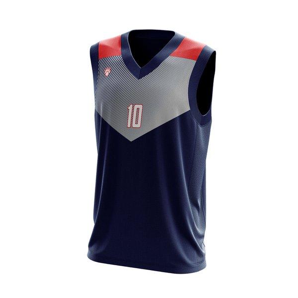 Camisa Regata Basquete Preta com detalhes em V