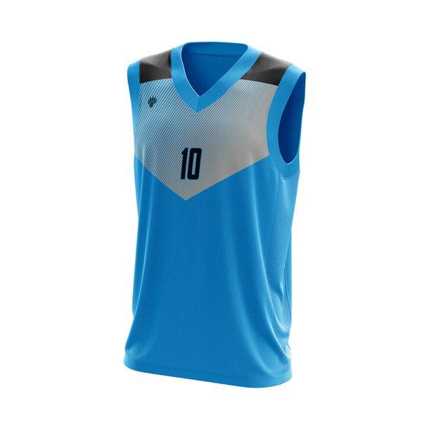 Camisa Regata Azul com detalhes branco basquete