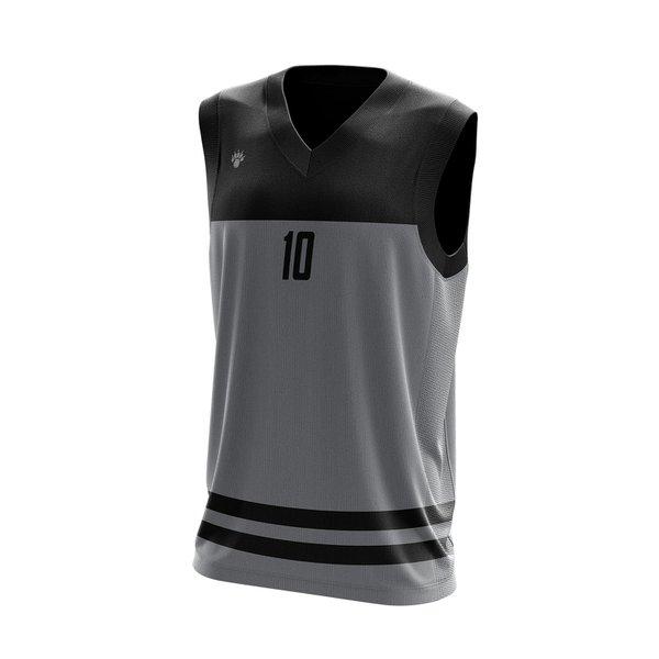 Camisa Regata Basquete Cinza com detalhes em Listra