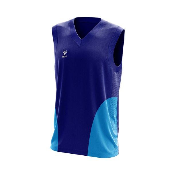 Camisa Regata Azul com detalhes laterais