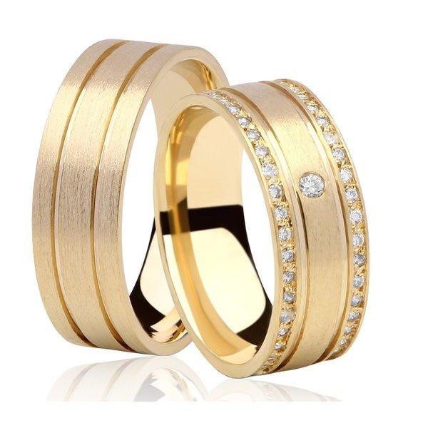 Aliança de Noivado e Casamento em Ouro 18K (750)