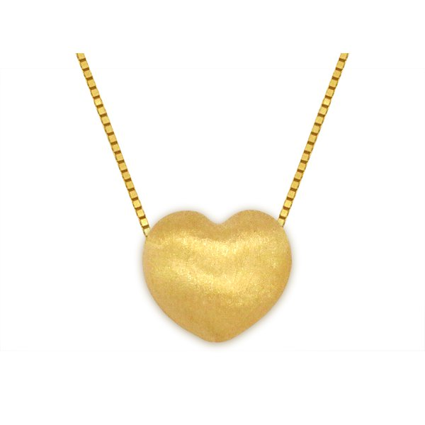 Gargantilha com Coração em Ouro 18k