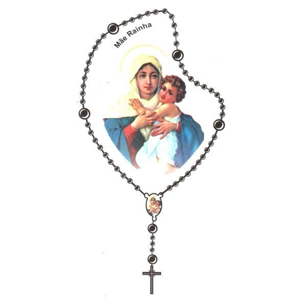 Adesivo Terço Pequeno Nossa Senhora Mãe Rainha