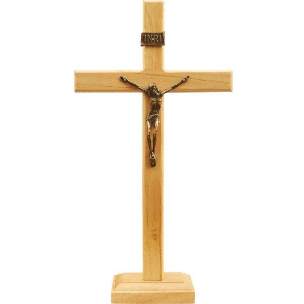 Crucifixo Madeira 35cm Mesa e Parede