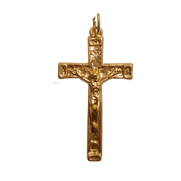 Crucifixo Jerusalem Dourado