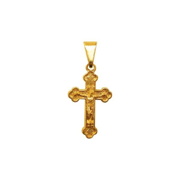Crucifixo Folhado à Ouro Romano