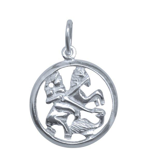 Medalha São Jorge Vazada de Prata
