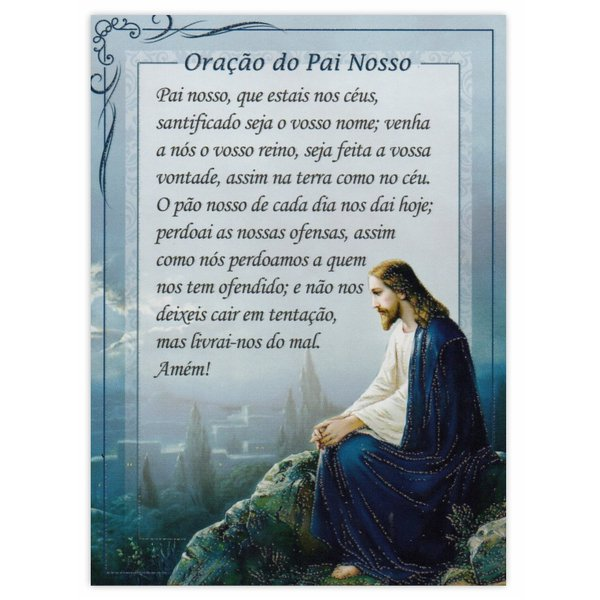 Cartão Postal Oração do Pai Nosso