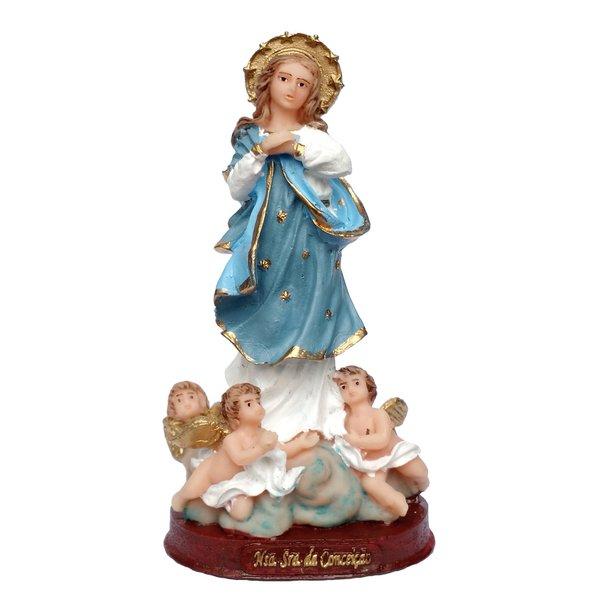 Imagem de Nossa Senhora da Conceição 15cm Resina Nacional