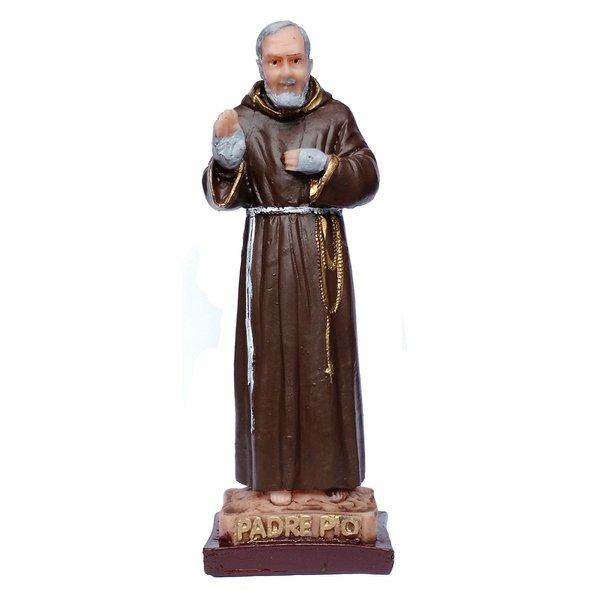Imagem do Padre Pio 15cm Resina Nacional