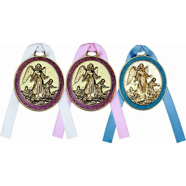 Medalhão de Berço Glitter Resinado