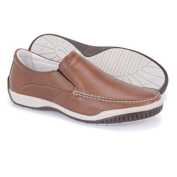 3ffd02eca Mocassim Masculino Confort Tamanho Grande - Pinhão | Pé Relax Sapatos  Confortáveis