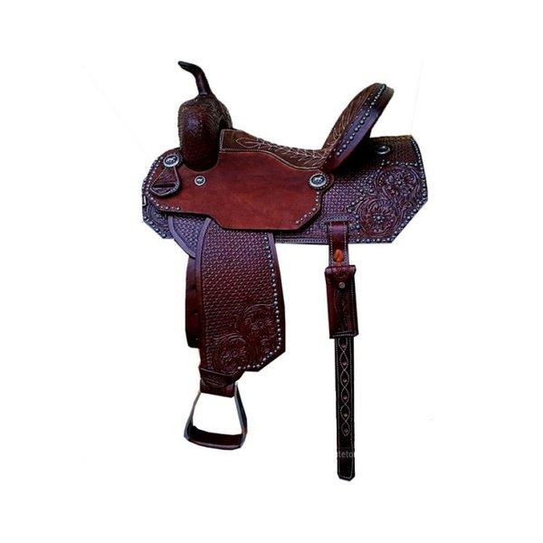 Sela de Couro Tambor - 16 Forma Protec Horse