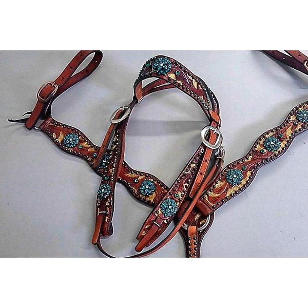 Conjunto Cabecada e Peiteira - Master Saddles 27