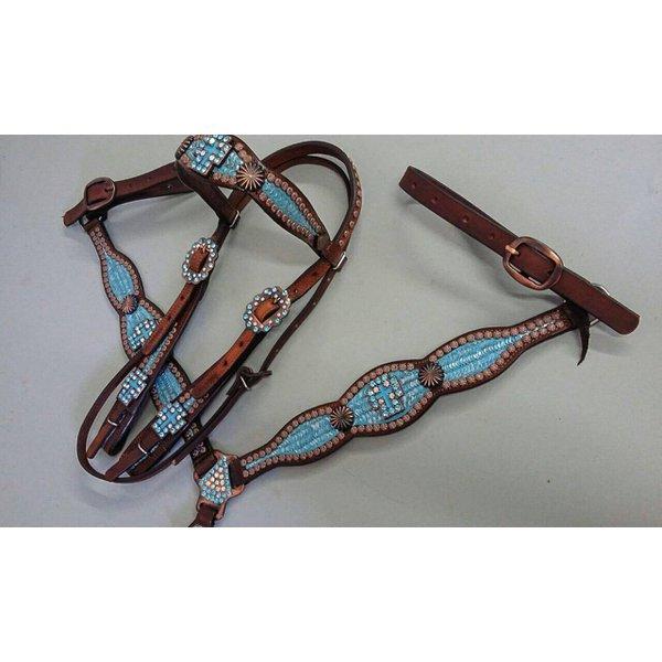 Conjunto Cabecada e Peiteira - Master Saddles 41