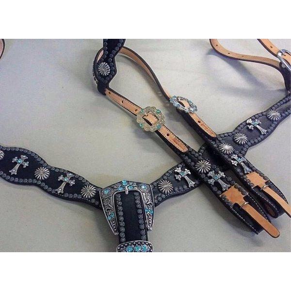 Conjunto Cabecada e Peiteira - Master Saddles 09