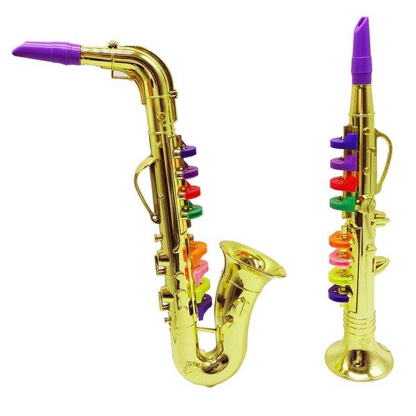 Saxofone - Brinquedo Com Teclas Coloridas