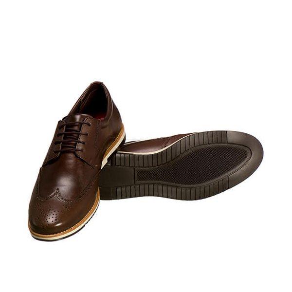 e0787114f3 Sapato Oxford Masculino Em Couro Legítimo El Baron Marrom - Sapatarianet