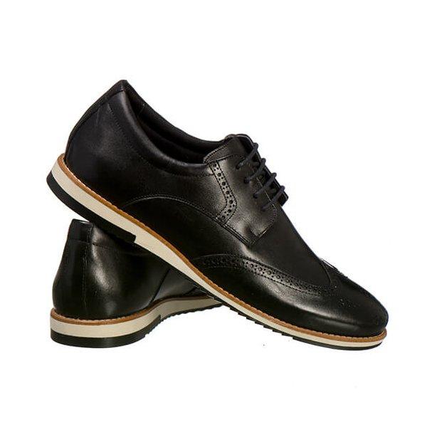 5e4c9b2f48388 Sapato Oxford Masculino Em Couro Legítimo El Baron Preto - Sapatarianet    SAPATARIANET