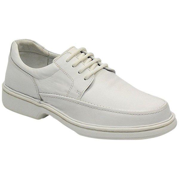 Sapato Conforto Em Couro Cor Branco Ref.738-2002