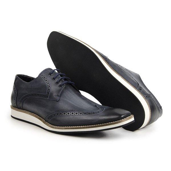 Sapato Oxford Masculino Estonado Marinho Ref.1417-516