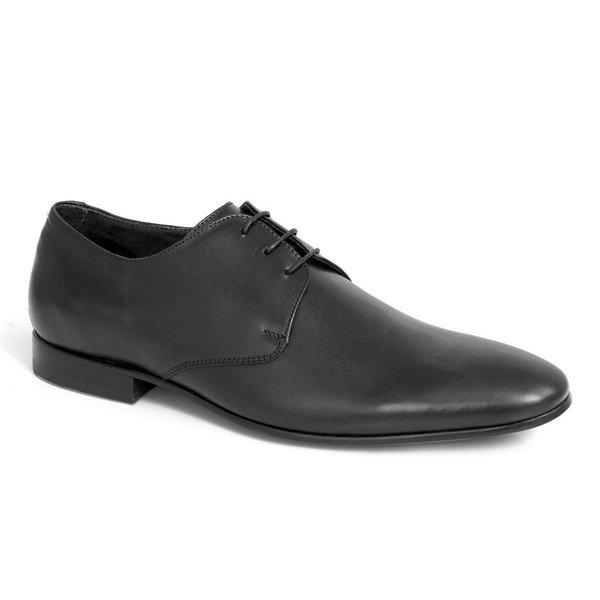 Sapato Social Clássico Em Couro Cor Preto Ref. 1390-1003