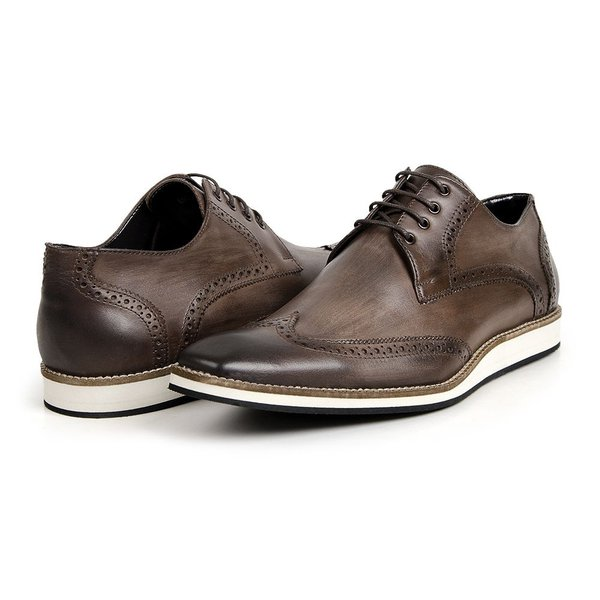 8b2d363e04 Sapato masculino oxford casual em couro legítimo