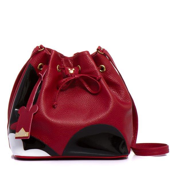 Bolsa Mickey Saco Lateral Selten Vermelha