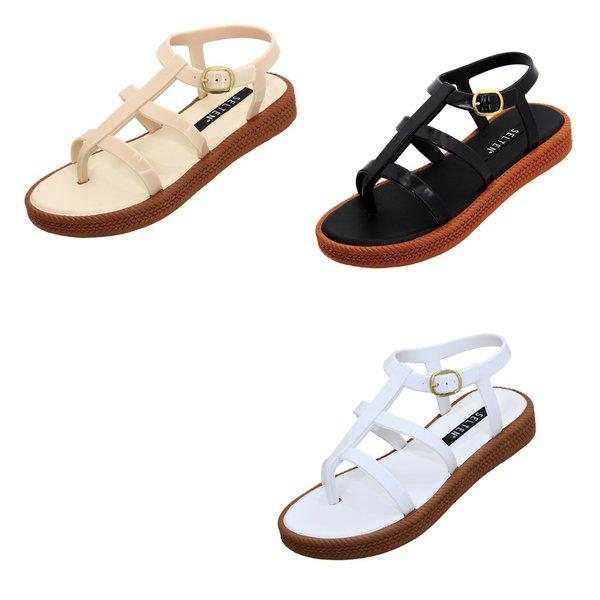 3a687733e3b406 Kit Sandália Gladiadora Caribe - Selten - 3 sandálias nas cores preta,  branca e creme