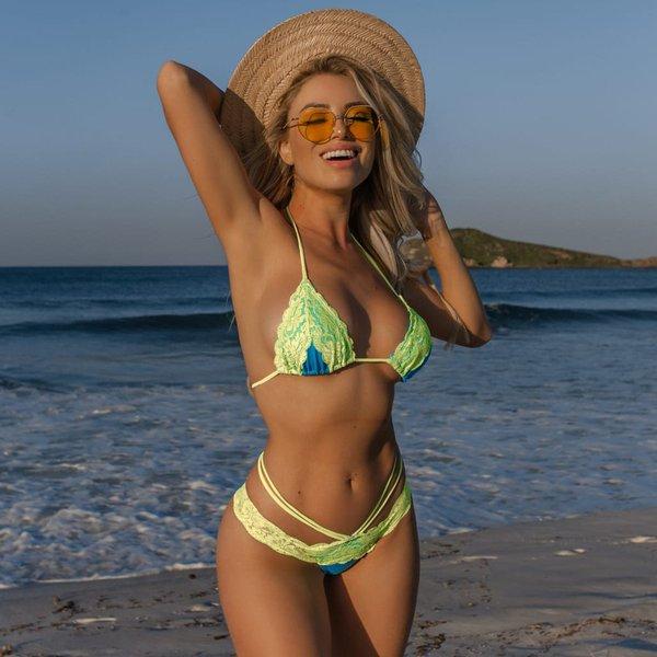 33bbf948b3a2 Biquíni Cancun Lacy: top cortininha + calcinha rendada